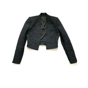 BCBGMAXAZRIA Black Crop Top Blazer Suit Jacket XXS